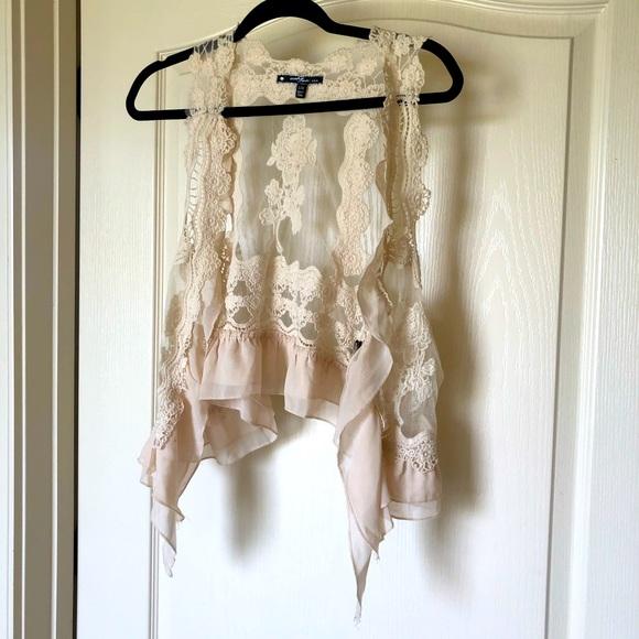 💗3 for $20💗 Umgee cream lace vest S/M